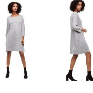 Aritzia Wilfred Free Light Grey Cober Dress